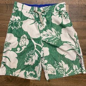 GAP Surf Green White Hawaiian Board Shorts Size M